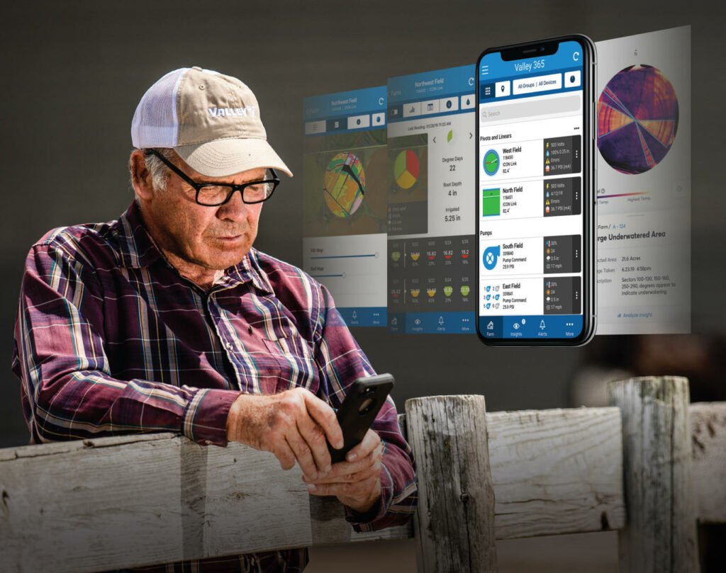 Man Looking at phone with Valley 365 Technology
