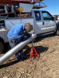 Irrigation pipe fabrication